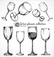Wine glasses - sketch vector image vector image