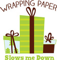 Wrapping Gifts vector image vector image
