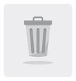 flat icon trashcan vector image