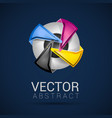 business template with CMYK logo vector image
