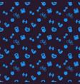 seamless pattern background with fitness icons vector image