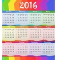 2016 Child style calendar vector image