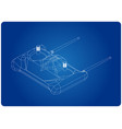 3d model of radio remote control on a blue vector image vector image
