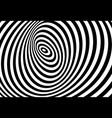 3d twisted circle black and white optical illusion vector image