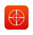 aim icon digital red vector image vector image