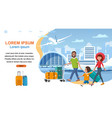 airline company cartoon website template