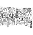 airplanes for sale text word cloud concept vector image vector image