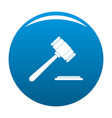 auction gavel icon blue vector image vector image