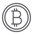 bitcoin line icon money and finance vector image vector image