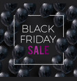 black friday sale banner low poly vector image vector image