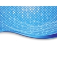 blue high-tech background - cells vector image