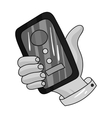 Call conference icon in monochrome style isolated vector image vector image