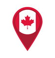canada day canadian flag in navigation pin flat vector image