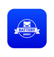 car battery icon blue vector image vector image