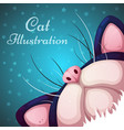cartoon cat characters sky and star vector image vector image
