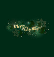 christmas poster abstract 3d objects in the vector image vector image