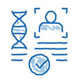 confirmation dna file doodle icon hand drawn vector image vector image