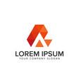 creative modern letter a logo design concept vector image vector image