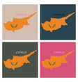 detailed of a map of cyprus with flag eps10 vector image vector image