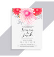 elegant flower and leaves beautiful wedding card vector image vector image