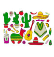 fiesta and latin american festivals a set of vector image vector image