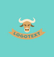 flat icon on background bull logo vector image vector image