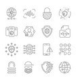 gdpr data privacy icon set included vector image vector image