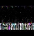 glitch color lines distorted background vector image vector image