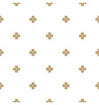 gold and white seamless pattern with flower shapes vector image