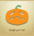 halloween card with gloomy pumpkin vector image vector image
