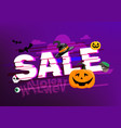 halloween sale banner season offer concept vector image