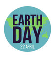 happy earth day lettering vector image vector image