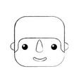 happy mexican man profile cartoon image vector image