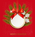holiday christmas background with snowflakes and vector image vector image