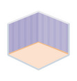 home room empty wall stripes floor isometric vector image