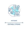 hr teams concept icon vector image vector image