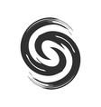initial s zen refresh symbol brush vector image