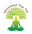 international yoga day poster design vector image vector image