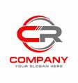 letter cr logo design vector image