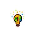 lightbulb icon creative idea logo design concept vector image vector image