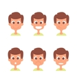 Man face with emotions set Man emotion vector image vector image
