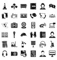 microphone icons set simple style vector image vector image