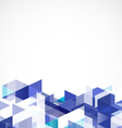 Modern blue geometrical abstract template vector image vector image