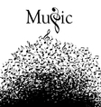 Music Typographic vector image