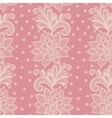 Old white elegant doily on lace pink background vector image vector image