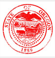 oregon seal rubber stamp vector image vector image