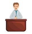 pediatrician on desktop icon cartoon style vector image vector image