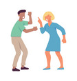 quarrelling and shouting vector image vector image