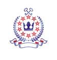royal crown emblem heraldic design element retro vector image vector image
