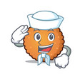 sailor cookies character cartoon style vector image vector image